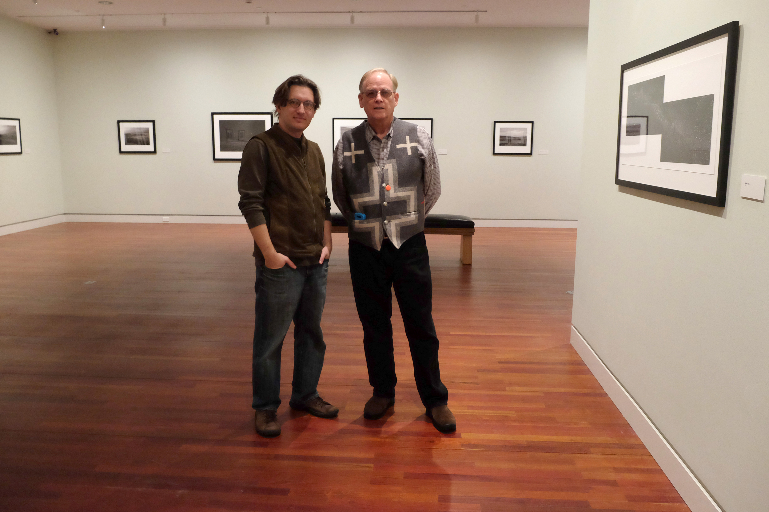 At the Taylor Museum/FAC for the  Firmament  exhibition with my publisher, George F. Thompson, 2013