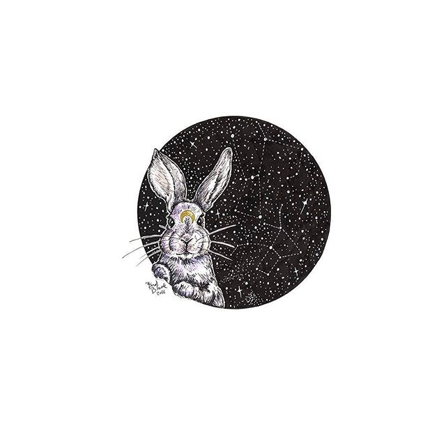 Bunny Moon 🌙🐰🌙 (Print available via Etsy, link in profile) . . #bunny #bunnymoon #moonbunny #usagi #rabbit #rabbit🐰 #constellations #illustration #etsy #etsyshop #etsysale #artprints