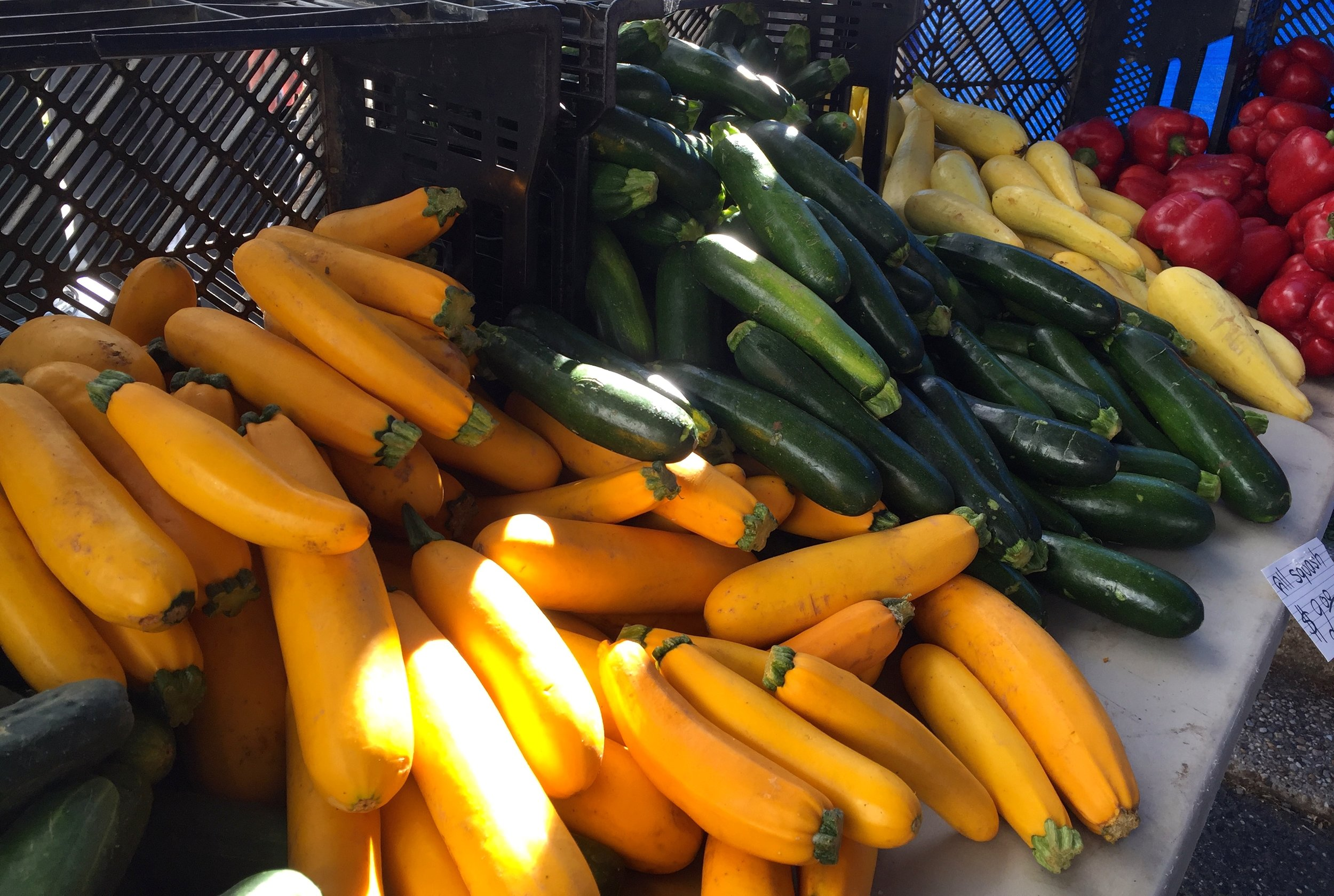 Gold and Green Zucchini at the Palisades Market, Washington DC