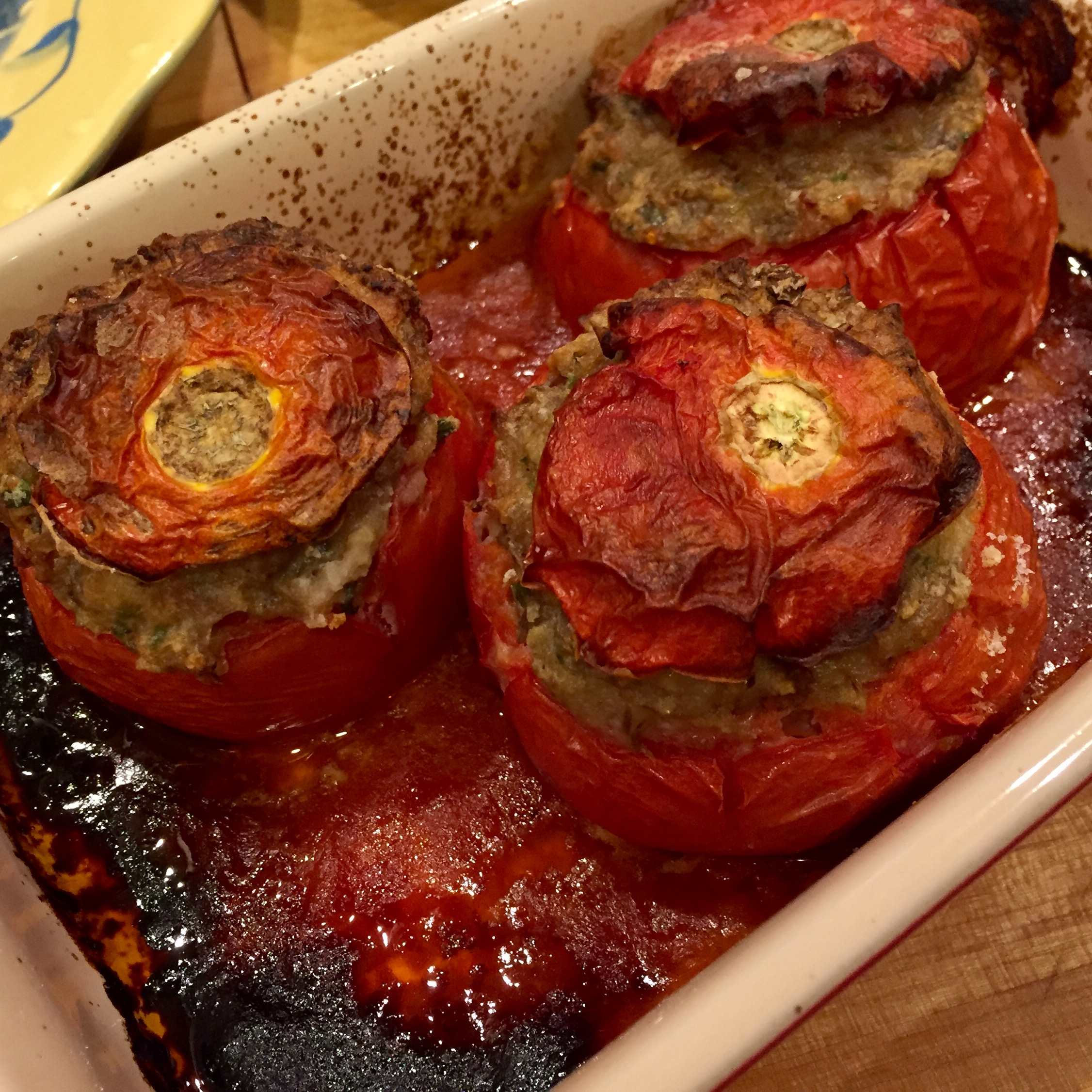 Baked Tomatoes Farcies