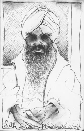 Sikh in a Windbreaker