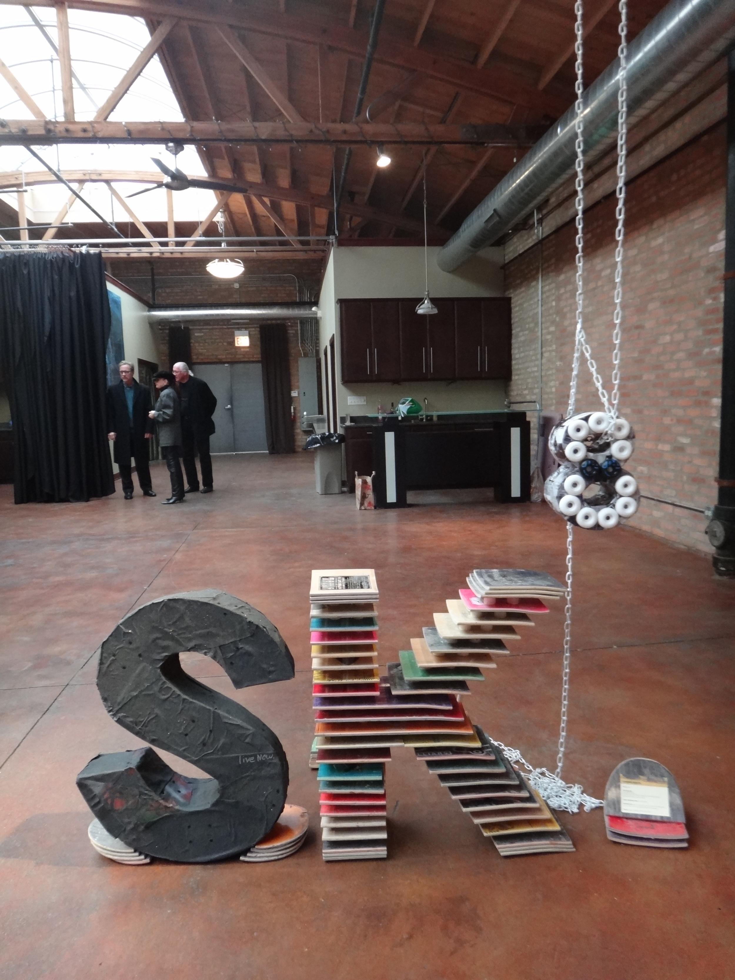 SK8 3D letters - Corinne Séguin
