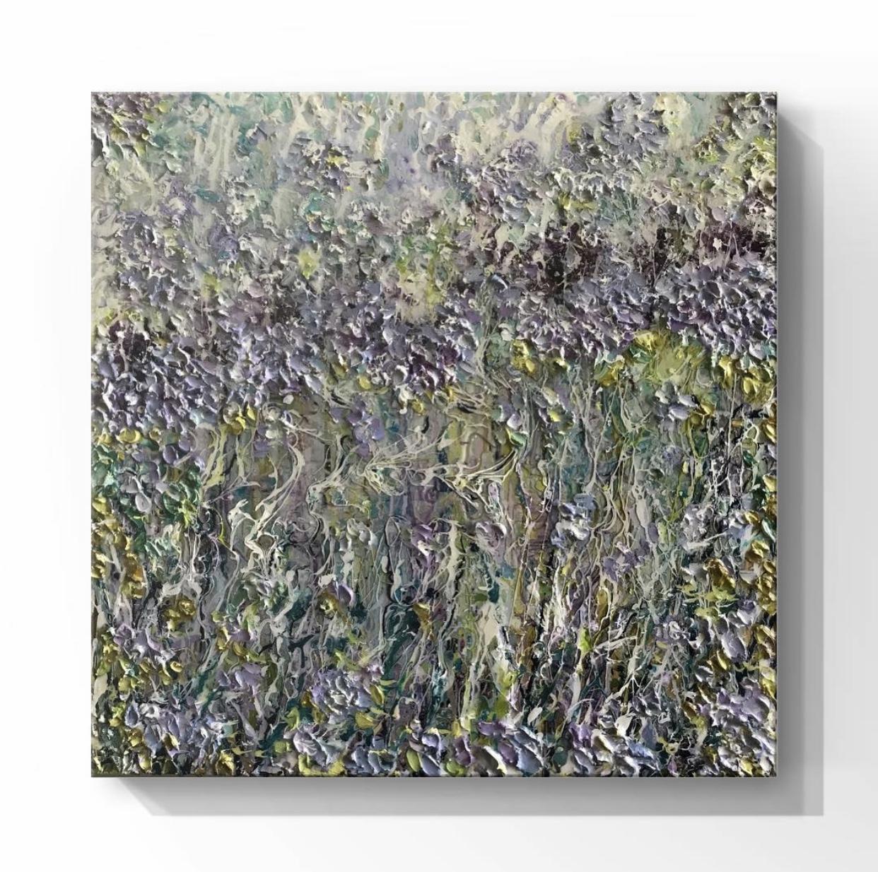 Available ~ Flower series ~ 55 x 55cm (framed) ~ $1300