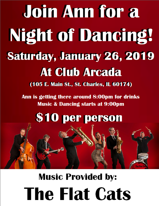 🎵 REMINDER! Ann's 1st Dancing Outing of 2019 is Coming Soon!! 🎶 - http://bit.ly/2VG7LNF