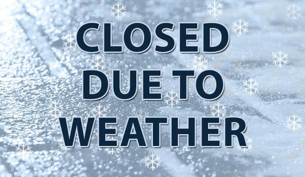 DUE TO THE WEATHER: WE WILL BE CLOSED TOMORROW, JANUARY 30TH We will reopen on Thursday, January 31st at 1:00pm Sorry for any inconvenience. Please be safe & stay warm!