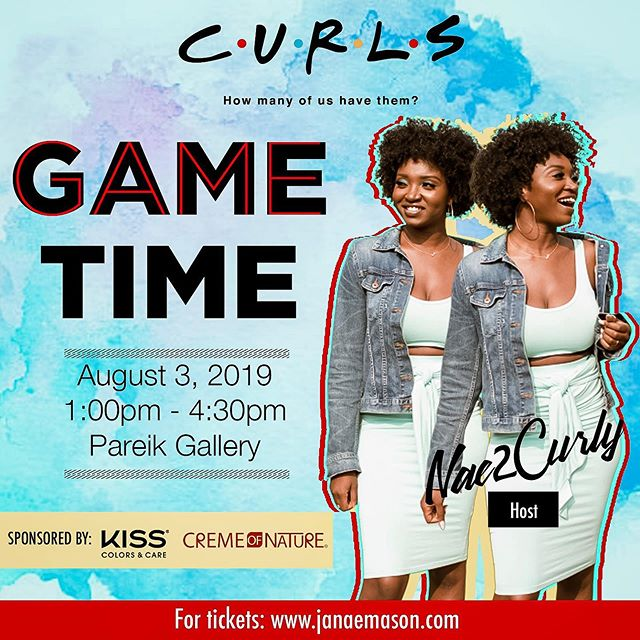 What's up beautiful people! 😎 @detroitcurlfriends is back! CURLS: How Many Of Us Have Them is officially here again! Tickets available at Detroitcurlfriends2019.eventbrite.com. Link in bio! . . On August 3, 2019 from 1:00pm-4:30pm at @PareikGallery in Southfield, MI. we will be bringing together naturalistas who love hair, fashion, and fun! This year we are having the ultimate GAME TIME experience! There will be prizes, summer themed food and more! We just want you to have a good time! . . . We have dope sponsors on deck! @cremeofnature and @kissproducts will be bringing in some awesome products for you to try! #detroitcurlfriends #curlshowmanyofushavethem #naturalhair #kissproducts #cremeofnature #detroit