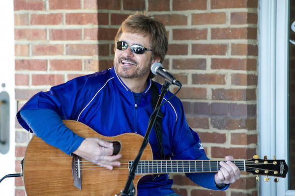 "Gary Baker, the writer of the mega-smash ""I Swear,"" performs for the crowd at Sunday brunch."