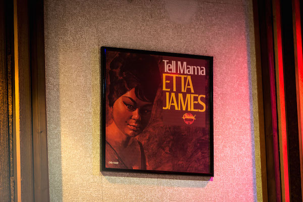 Etta James album art at Muscle Shoals Sound Studio.