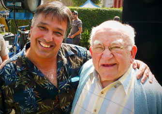 Ron with Ed Asner