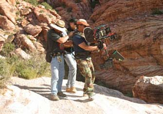 Steadicam in the mountains.