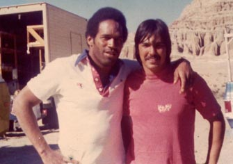 "O.J. Simpson and Ron on ""Capricorn One"" film."