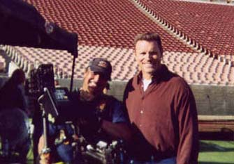 Ron doing Steadicam with Howie Long.