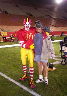 Ronald McDonald and I. Doing a commercial.