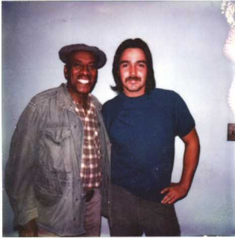 "The Scatman. Scatman Crothers and Ron on Eastwood film, ""Bronco Billy""."