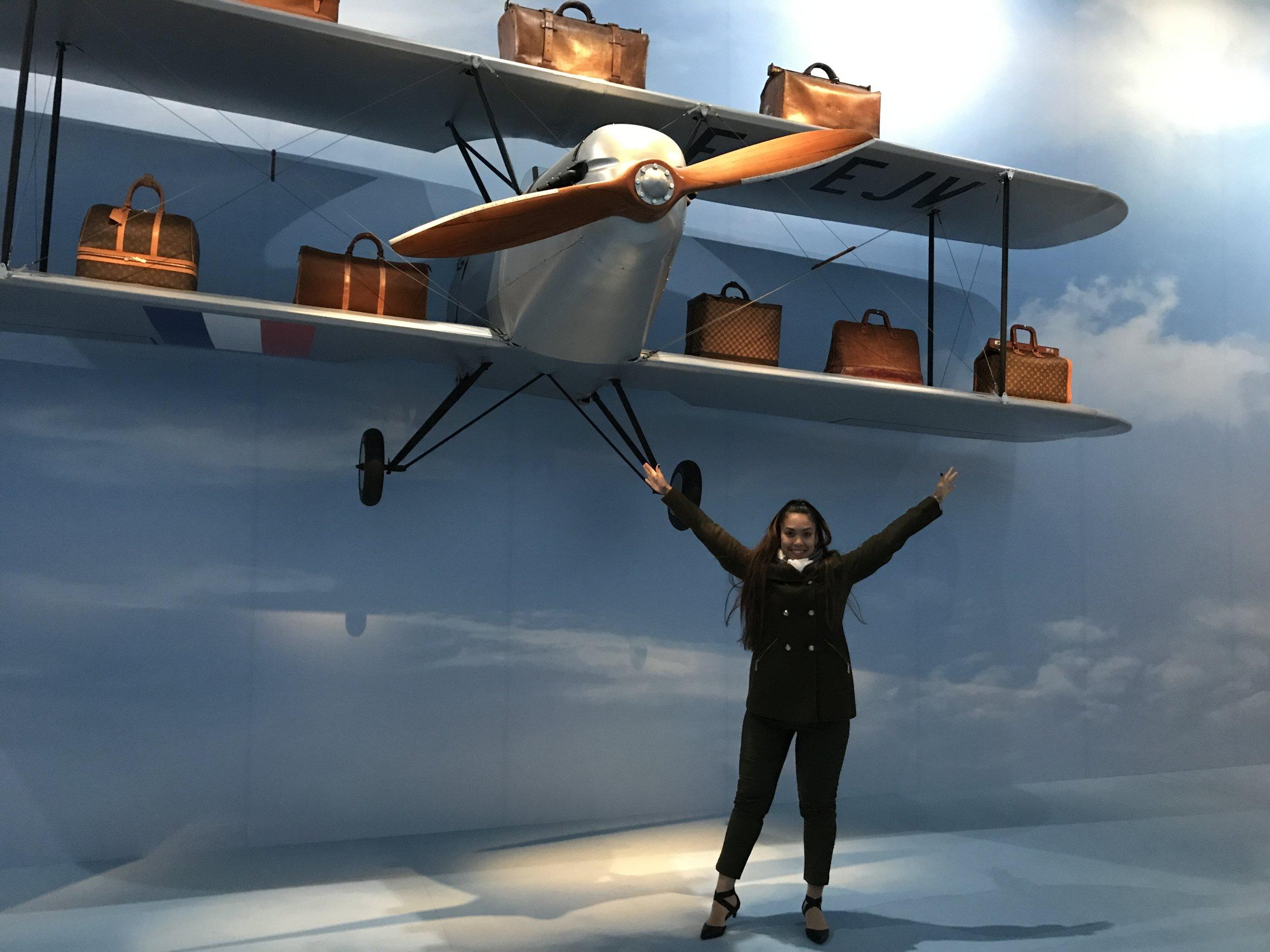louis Vuitton exhibition plane