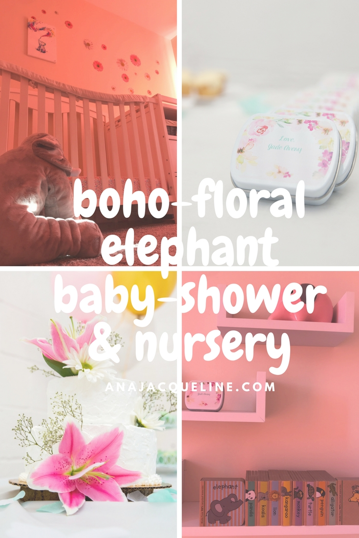 Boho Floral Elephant Baby-Shower + Nursery | Floral Nursery | Elephant Nursery | Floral Baby-Shower | Floral Elephant Nursery | www.anajacqueline.com |