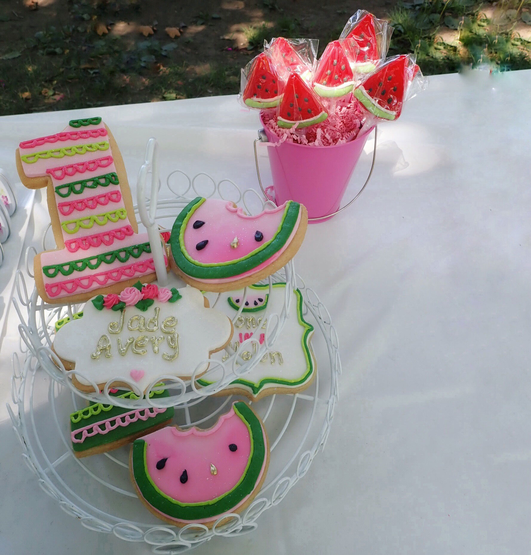 One In Melon cookies | One In A Melon Birthday | One In A Melon | Watermelon Birthday Party | Girl First Birthday | One In A Melon goodie bags | watermelon birthday | #oneinamelon