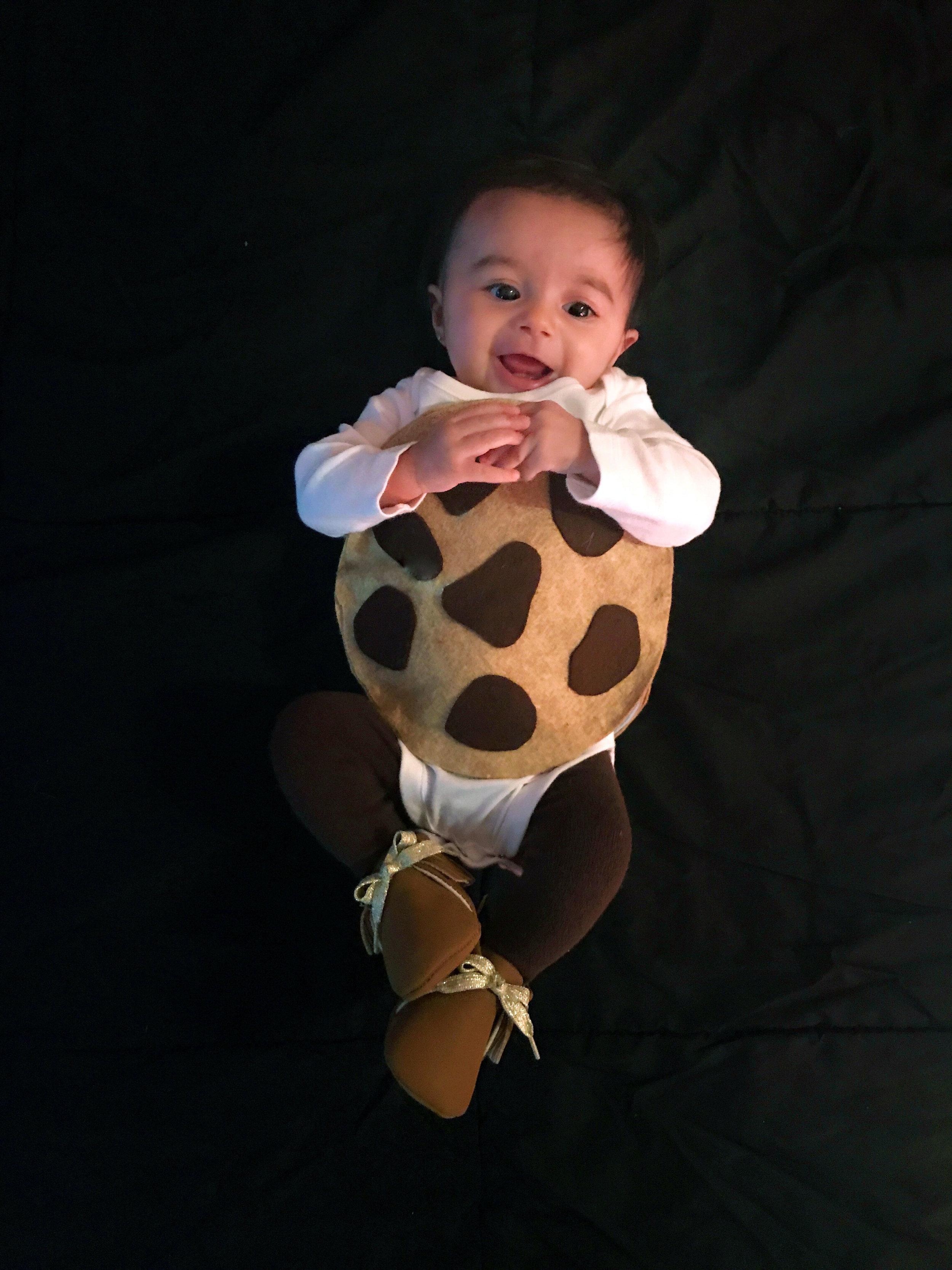 DIY cookie costume baby