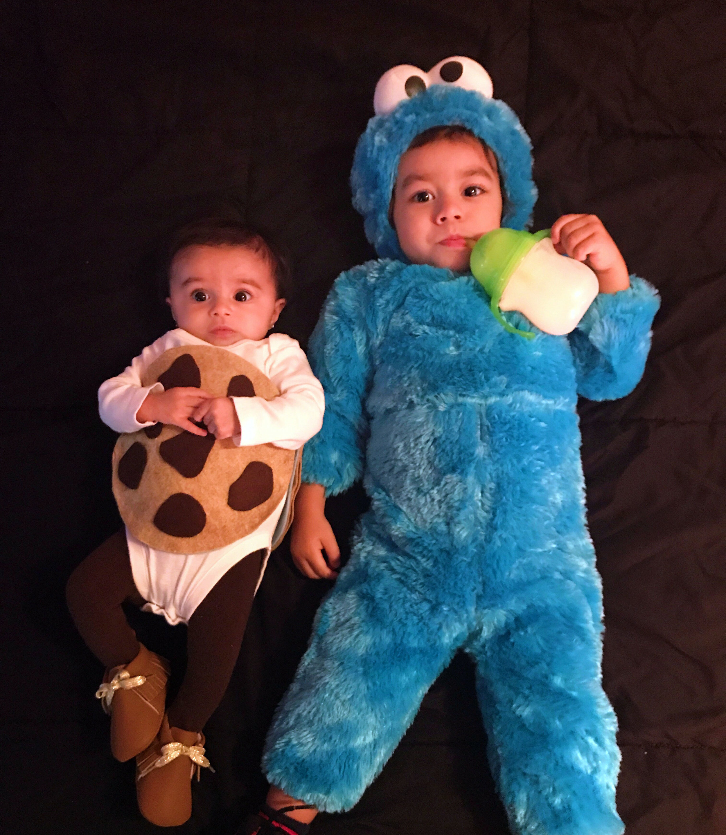 Cookie Monster and Cookie Halloween costumes