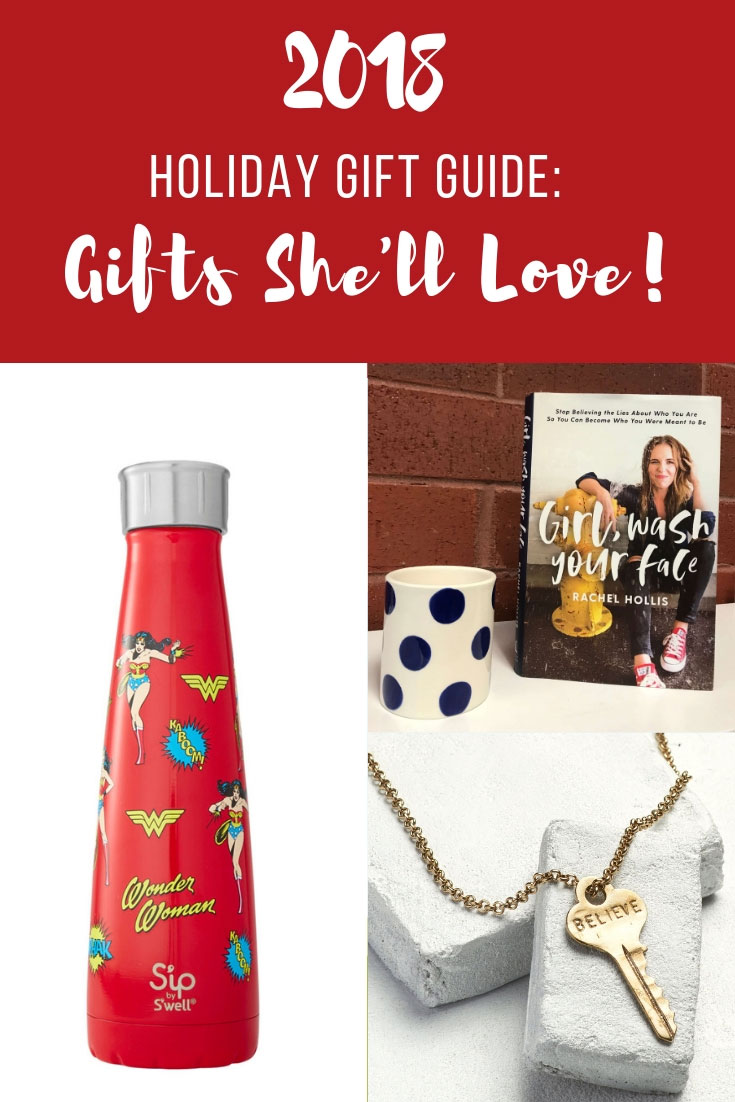 2018 Holiday Gift Guide | Holiday Gift Guide | Christmas Gifts for Friends | Girlfriends Stocking Stuffers | Girl Friends Stocking Stuffers | Swell Water Bottle | Barefoot Pink Moscato | Rae Dunn Mug | Queen Mug | Rae Dunn Queen Mug | Girl Wash Your Face | The Giving Key | Christmas Gift Guide | www.AnaJacqueline.com