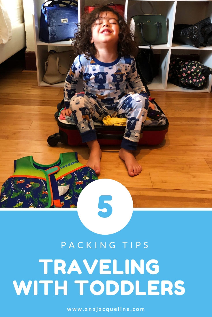 Packing Tips for Flying With Toddlers | Vacation with Kids | Packing Tips With Toddlers | Packing Tips Vacation With Toddlers | Minimalist Packing With Children | Family Packing Tips | www.anajacqueline.com