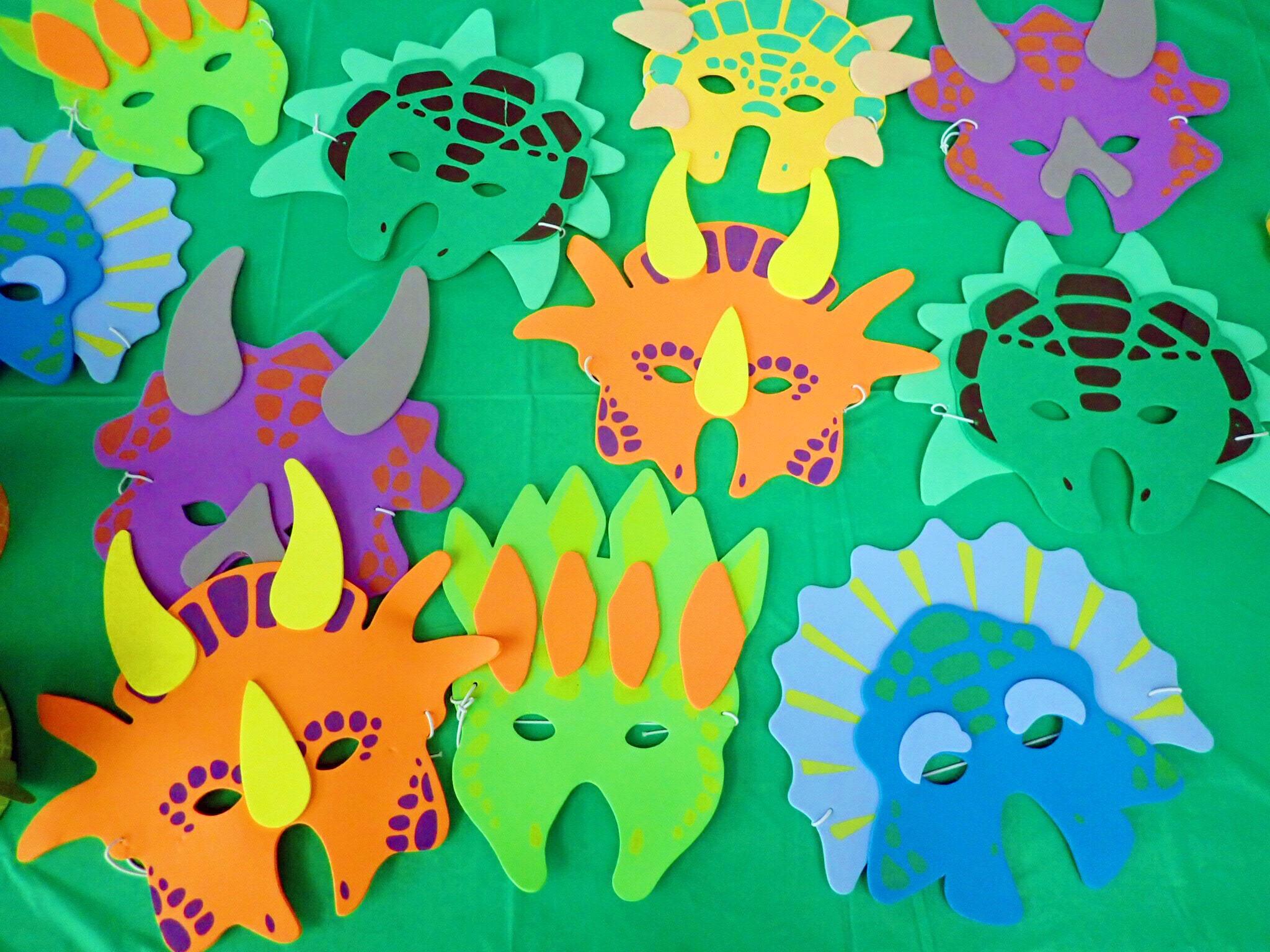Dinosaur Party Masks.jpg