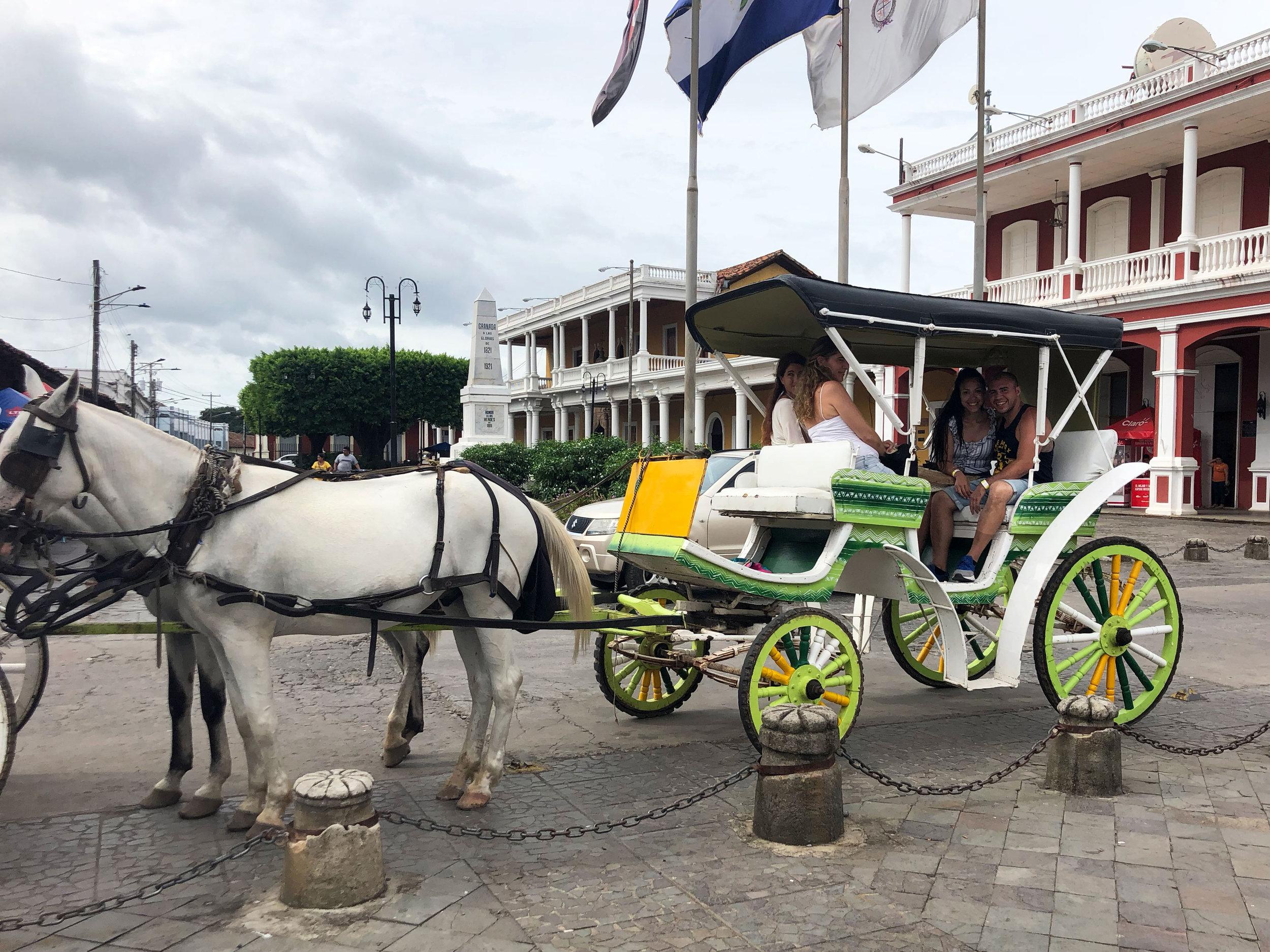 Granada | Granada, Nicaragua | Nicaragua | Granada Central Park | horse carriage ride | Nicaragua travel | Nicaragua bucket list | Nicaragua travel guide | Ana Jacqueline | anajacqueline.com