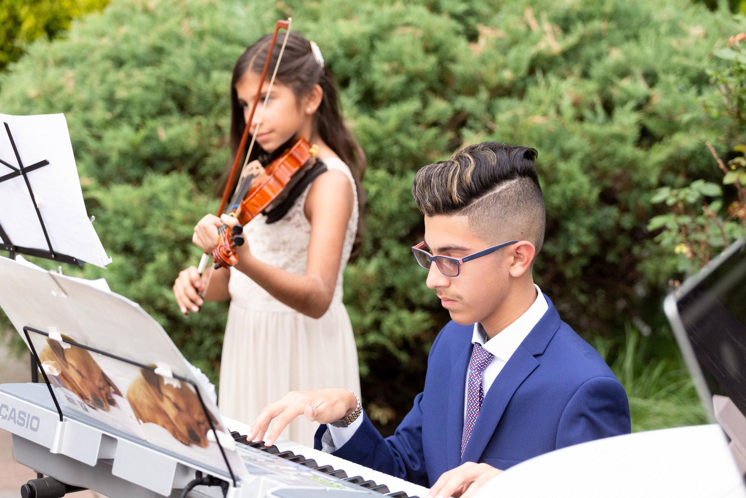 piano and violin wedding ceremony
