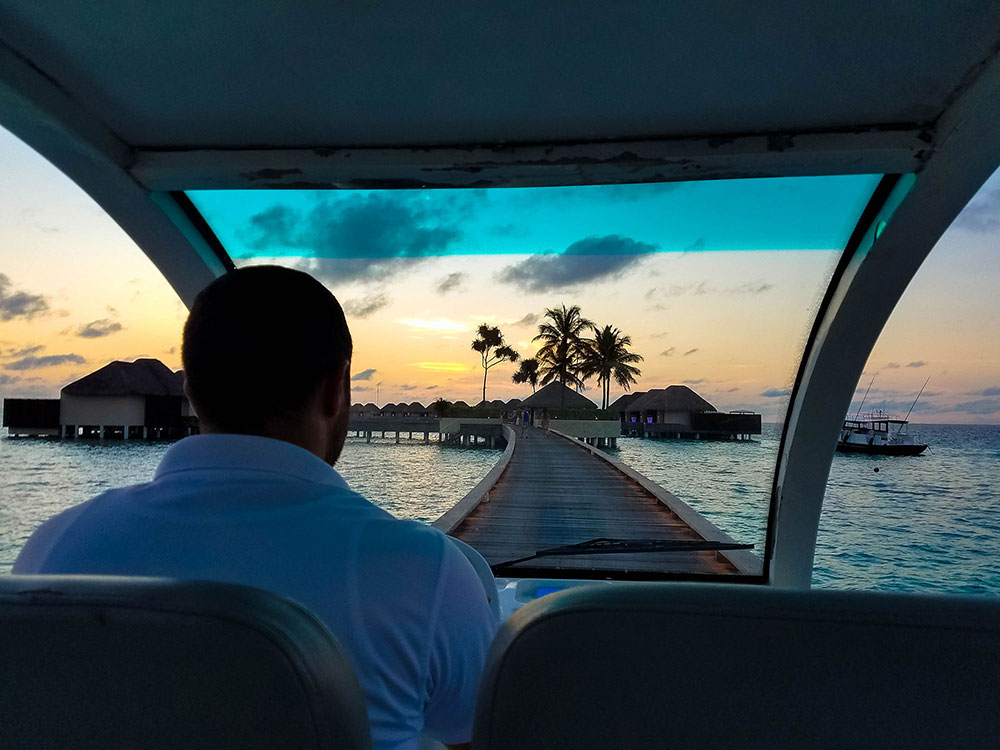 Sunset in Golf Cart in Maldives.jpg