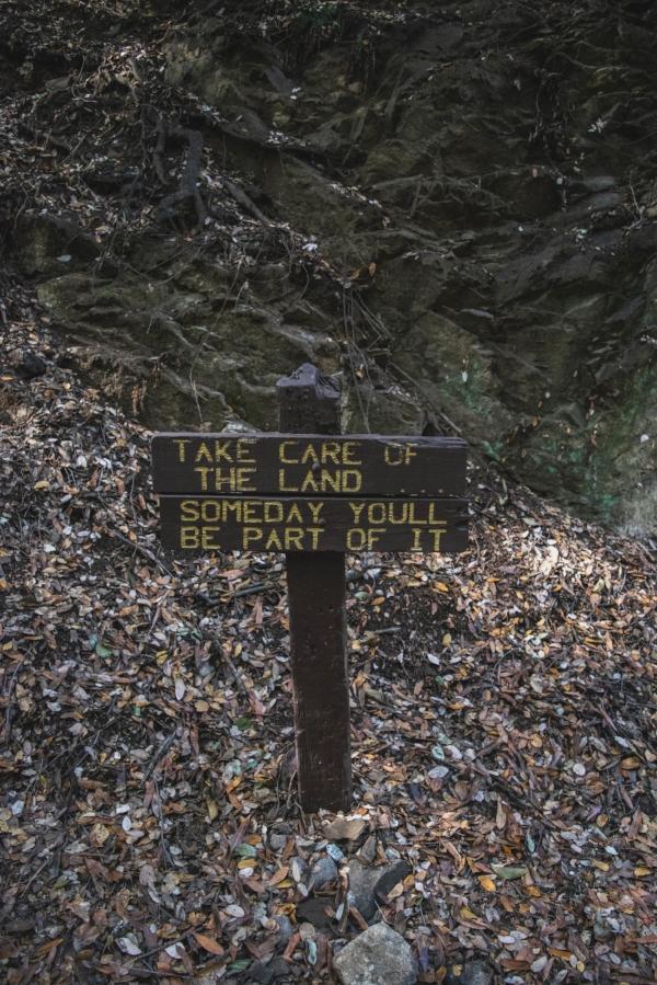 Sturtevant Falls Trail sign