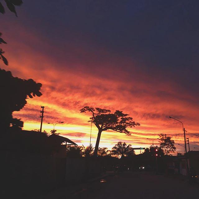 #peru #sunset .. #lupuna #pucallpa