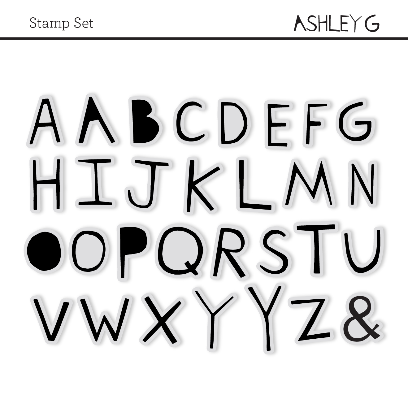 Ashley G Stamp Set for Studio Calico