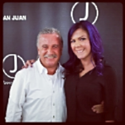 Megan with Juan Juan, owner of J. Beverly Hills