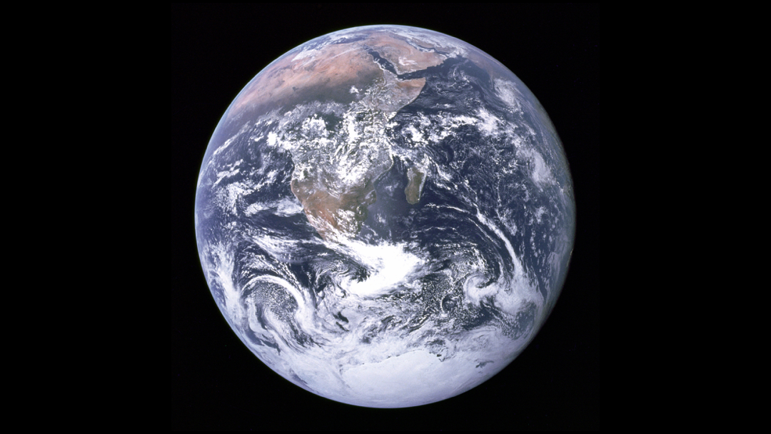 The Blue Marble: photographed by the crew of Apollo 17 on 7 December 1972.