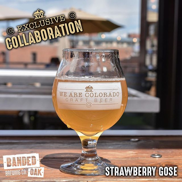 Come down to either of our locations to try this tasty collaboration we did with Banded Oak Brewing!  This Strawberry Gose is available exclusively at Tap Fourteen and the Banded Oak Taproom . . . . #tapfourteen #tap14 #coloradowhiskey #whiskey #beergarden #craftbeer #coloradocraftbeer #cocraftbeer #patiodrinking #denver #denvercolorado #downtowndenver #colorado #local