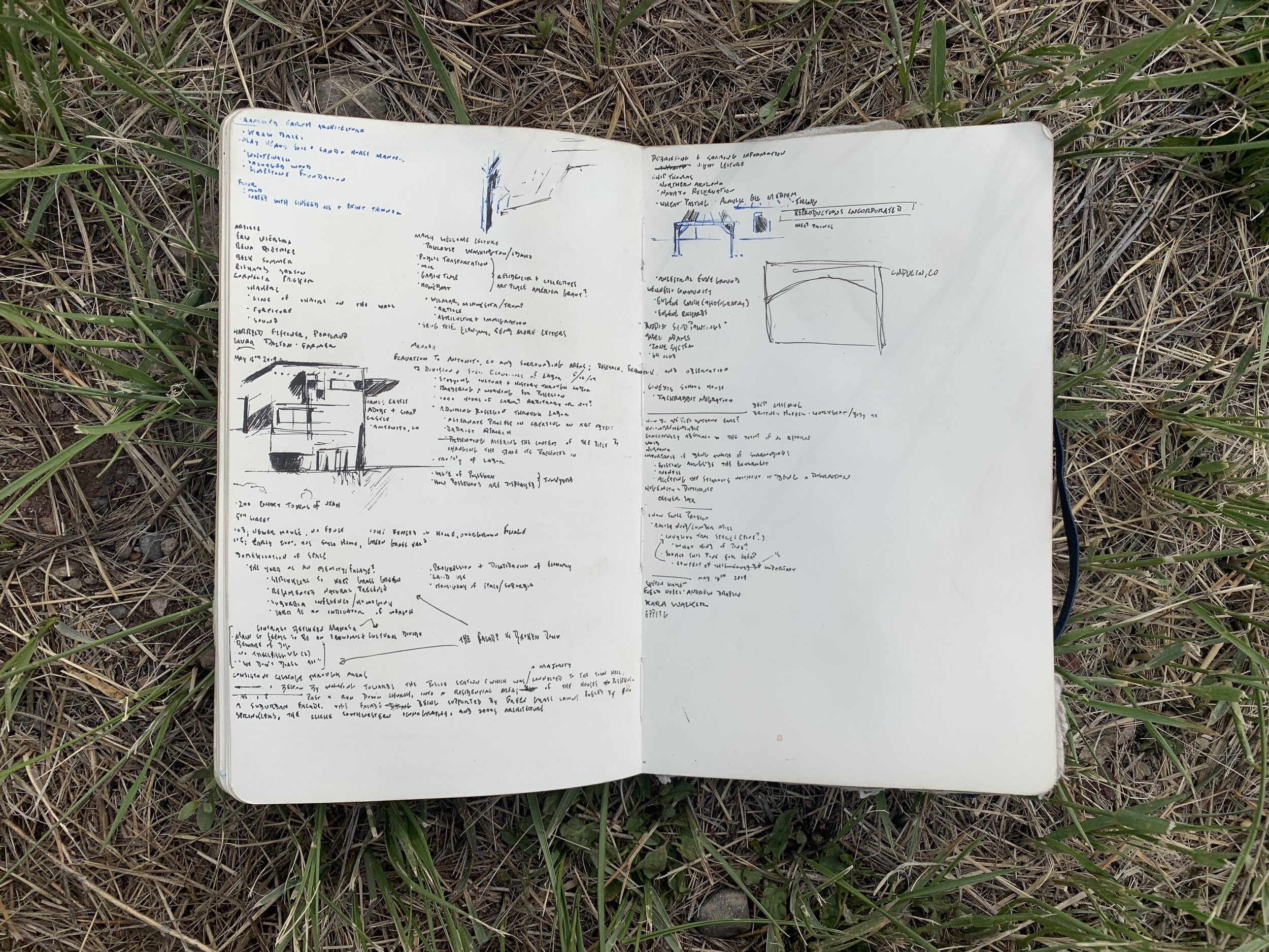 Notes on rammed earth architecture, exercise with Lisa and John in Manasa, lecture notes for Chip and Mary Welcome, observations from San Luis Valley excursion.