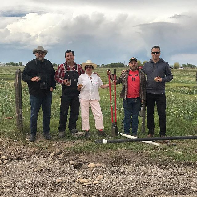 Field School Faculty all scrubbed up for Ranch Mix.