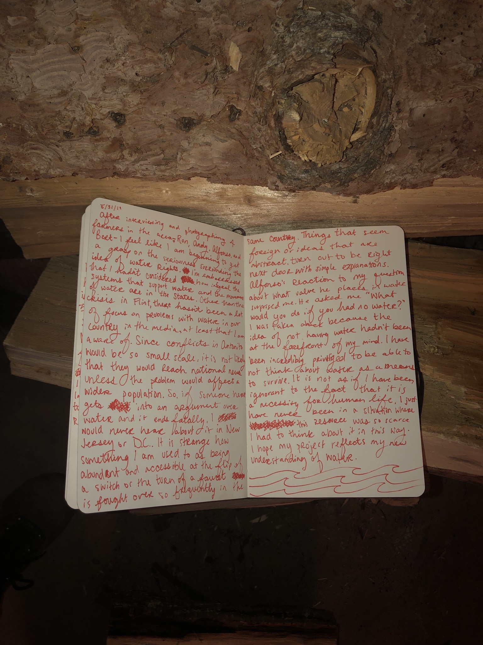 This journal entry was a reflection after interviewing and photographing my subjects.