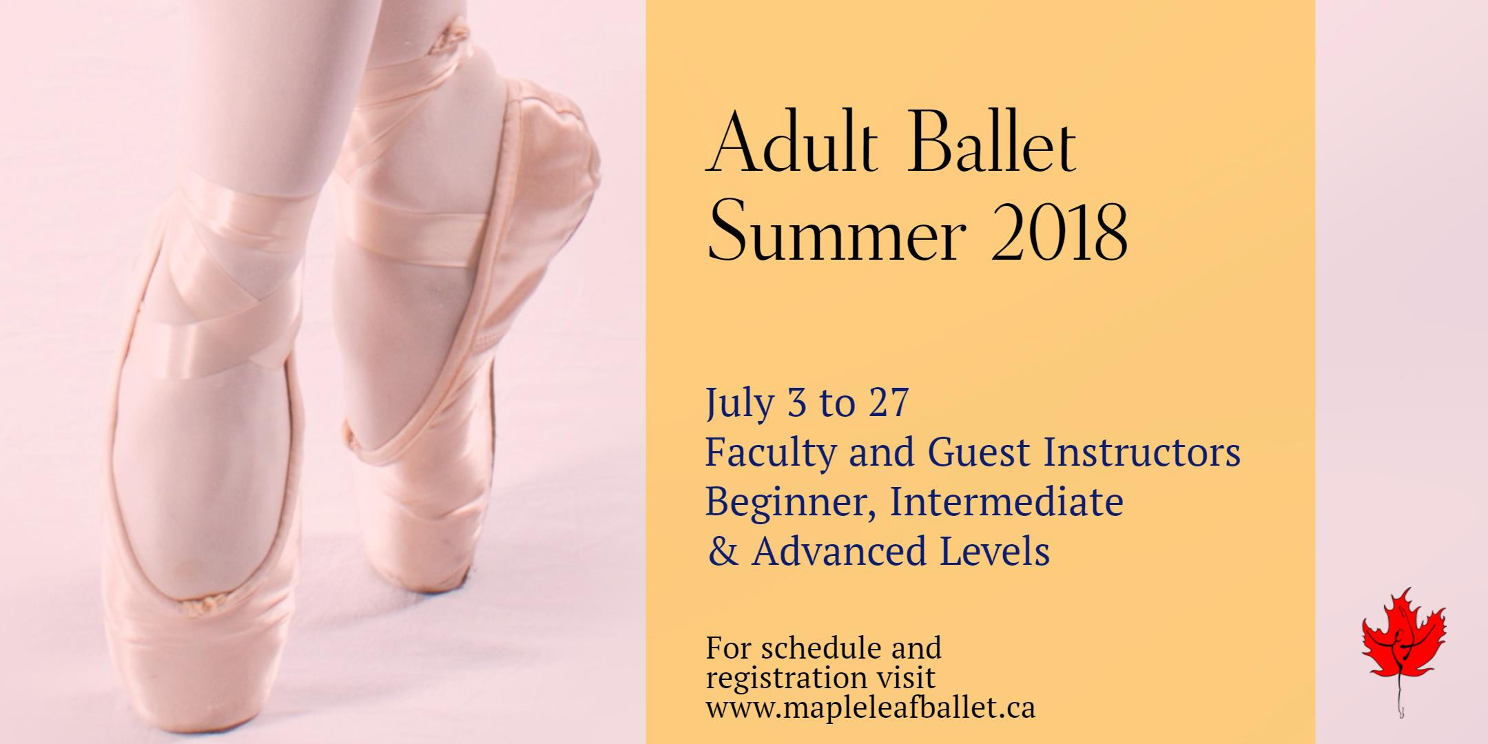 Adult ballet summer 2018