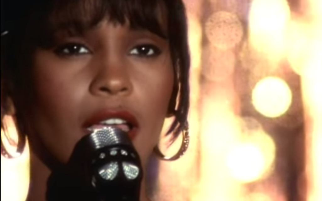 A still photo from Whitney Houston's performance in  The Bodyguard .