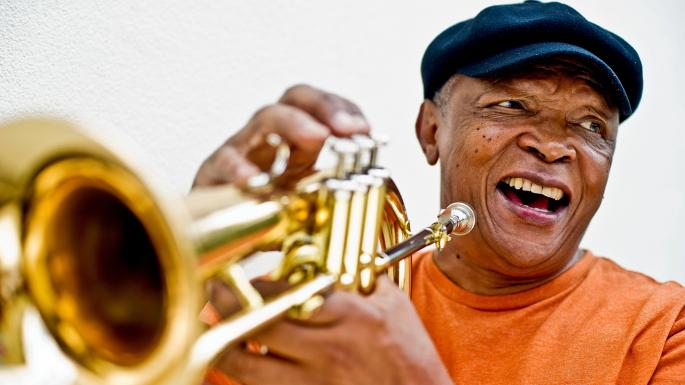 Hugh Masekela was born in South Africa and was notable for his music and his anti-apartheid activism.