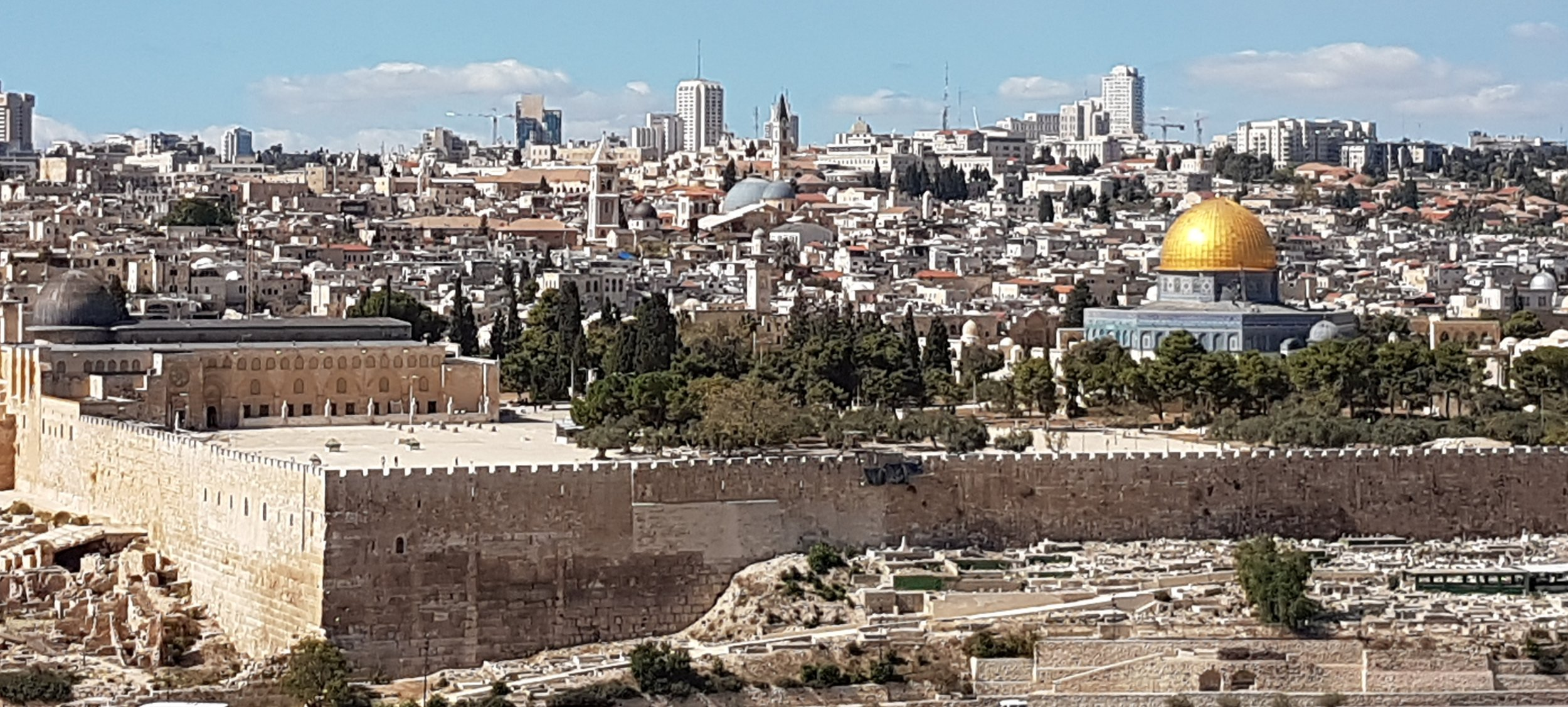 The Old City of Jerusalem viewed from Mount of Olives