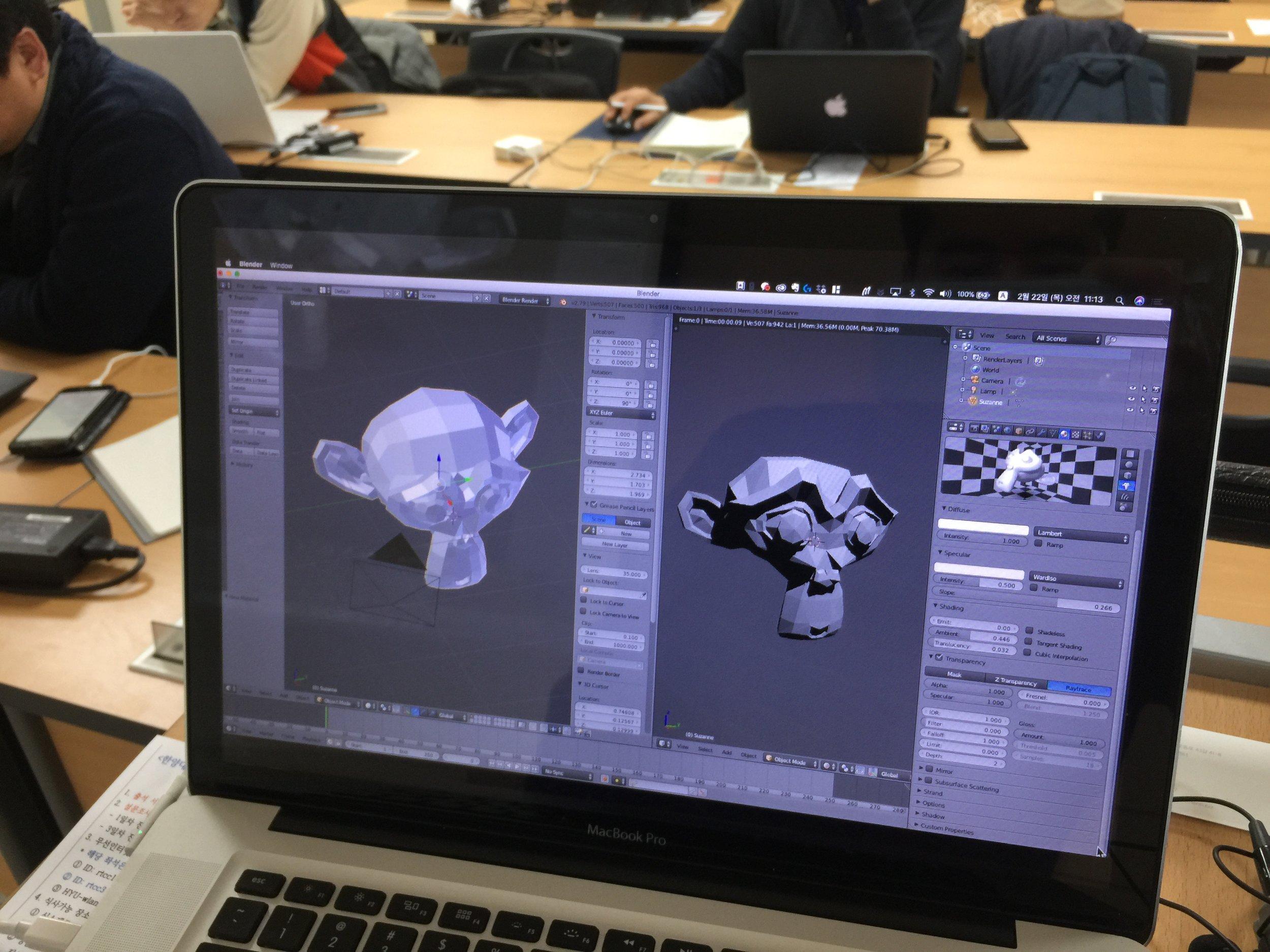 [사진] 오픈소스 블랜더 3D는 무료임에도 불구하고 높은 완성도와 쉬운 인터페이스, 간결한 사용성을 통해 손쉽게 3D 콘텐츠를 만들 수 있다.