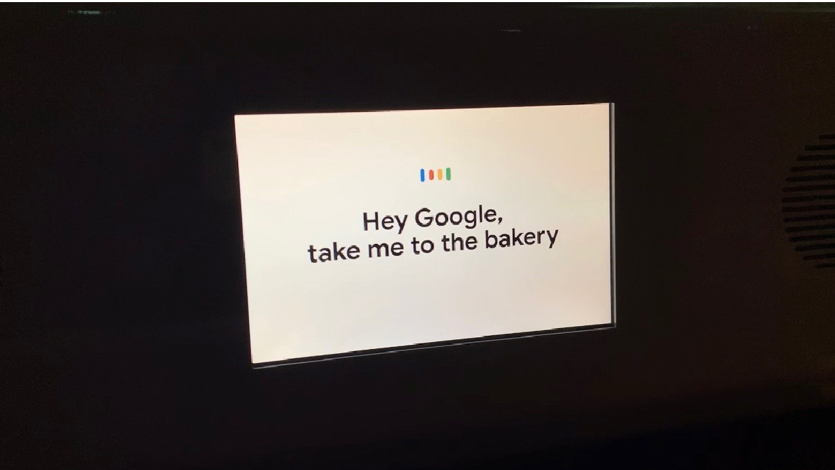 Google의 구글 어시스턴트 전시관 'HEY GOOGLE' 내부의 'Google Assistant Ride'