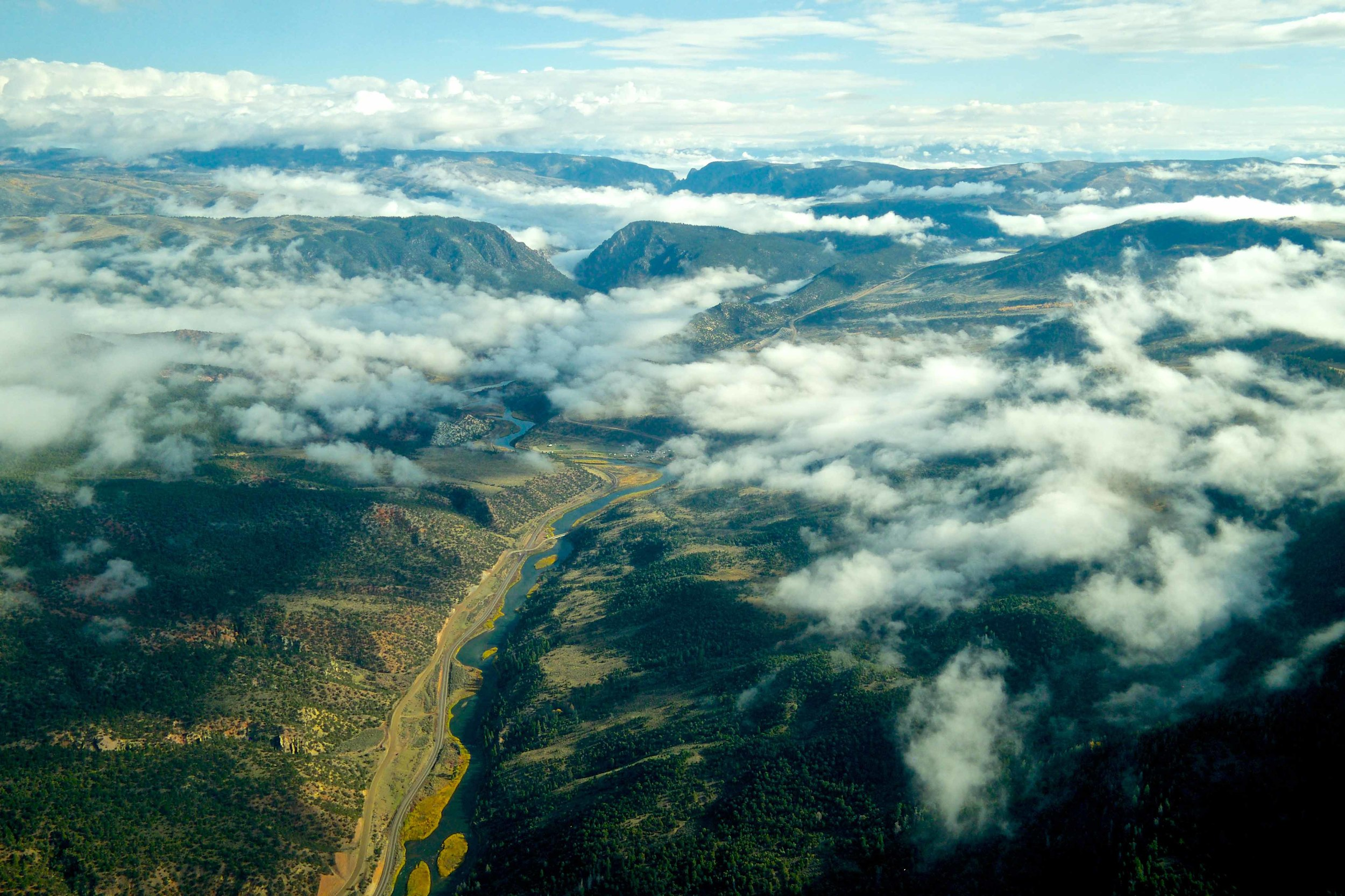 EcoFlight, a group of pilots who educate students about the wilderness, flies students on Saturday, Oct. 11, 2014 over an area in Eagle County where they learned about wilderness areas both existing and proposed.