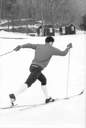Like his father and with memories of the Telemark Ski Club of the 1930s, Walter Williams brought back ski jumping and cross-country racing with the establishment of the Rosedale Nordic Ski Club in the 1960s. (RNSC photo)