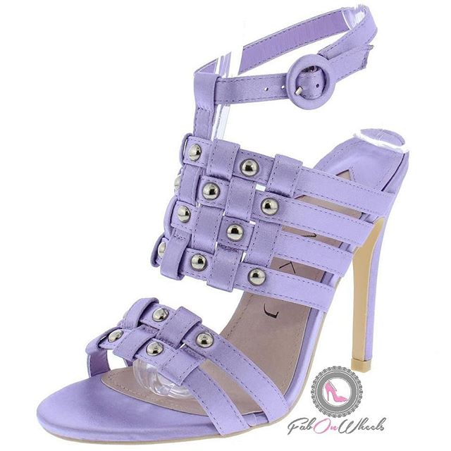 Ahhh lavender! Meet your new summer go-to! Sizes 7 to 11 availability is limited so get yours now! Open toe paired with an uncovered heel, woven strap & upper with stud detailing.  We're more than shoes we're a lifestyle. #stayfabulous! . . . . #shoelove #heels #stiletto  #shoegasm #shoecloset #shoegamestrong #shoefashion #fabonwheels #higheels #shoes👠 #shoestyllist i#loveshoes #shoeaddiction #shoeaddicts #summer #heels