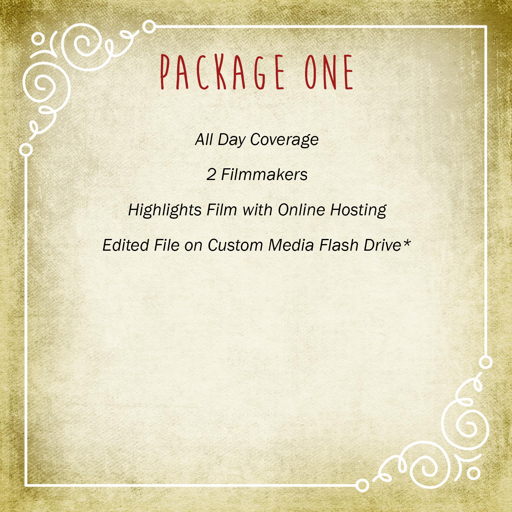 Video Package One | Vimage Weddings