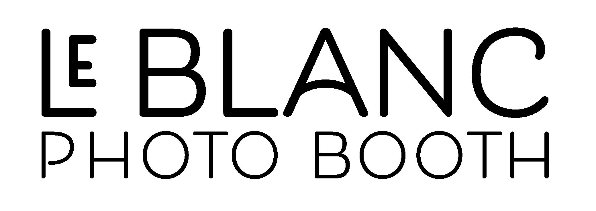 Le Blanc Photo Booth logo