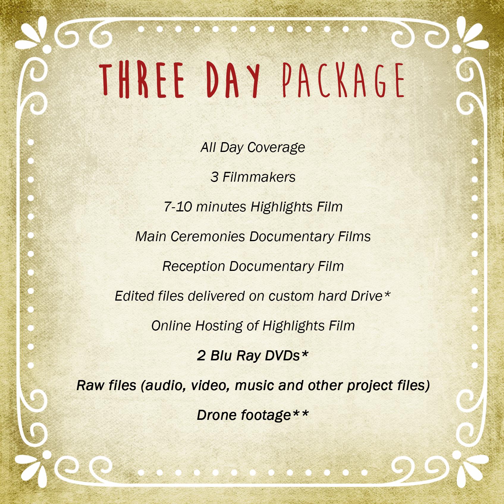 Three Day Package | Vimage Weddings